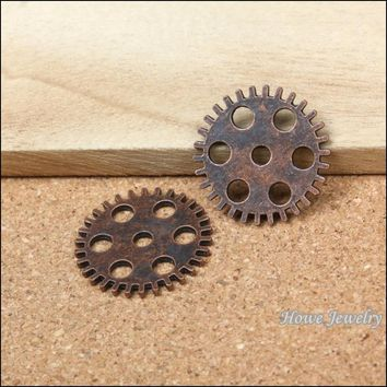 40pcs vintage  steampunk gear and cog clock hands   Charms    Antique Copper   Pendant  European Style jewelry findings  Y012