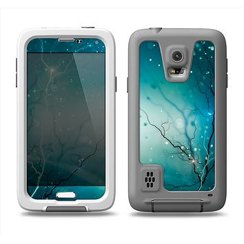 The Electric Teal Volts Samsung Galaxy S5 LifeProof Fre Case Skin Set