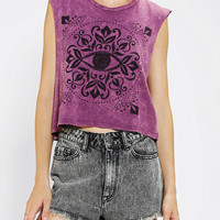Urban Outfitters - Truly Madly Deeply Eye Mineralized Cropped Muscle Tee
