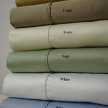 5 SIZES-1500TC Solid Egyptian Cotton Bed Sheet Sets Color: Gold Size: Olympic Queen