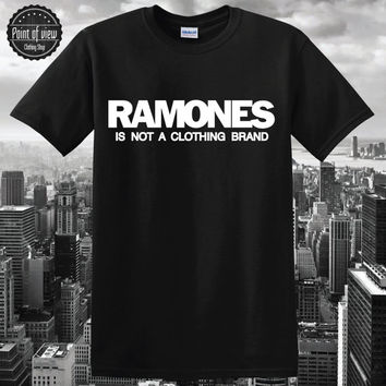 Ramones tshirt Ramones Black Shirt Quote tshirt Funny shirt brand New Band Music Men Classic Vintage Medium tumblr shirt pinterest shirt
