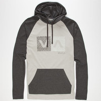 Rvca Hatch Box Mens Lightweight Hoodie Grey/Black  In Sizes