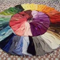 Lot of 2 Interchangeable Nylon Headbands for Hair Bows - 54 Colors to Choose From