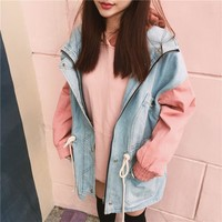 Baby Blue Hooded Jacket