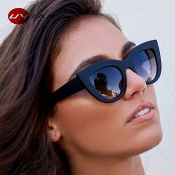 UVLAIK Sunglasses Women Vintage Cat Eye Sunglass Retro Women's Glasses UV Protection Sun Glasses Ladies Cateye Eyeglasses