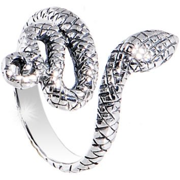 Sterling Silver 925 Coiled Sexy Snake Toe Ring   Body Candy Body Jewelry
