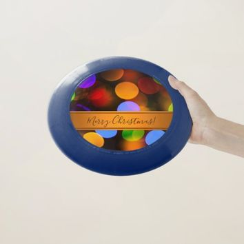 Multicolored Christmas lights. Add text or name. Wham-O Frisbee