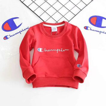 Champion Girls Boys Children Baby Toddler Kids Child Fashion Top Sweater Pullover