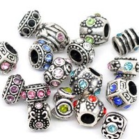 Amazon.com: Ten (10) of Assorted Crystal Rhinestone Beads (Styles You Will Receive Are Shown in Picture Random 10 Beads Mix) Charms Spacers for Bracelets Fits Pandora, Biagi, Troll, Chamilla and Many Others: Jewelry