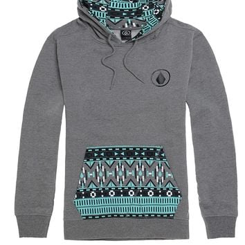 Volcom Rampart Pullover Fleece Hoodie - Mens Hoodie - Black