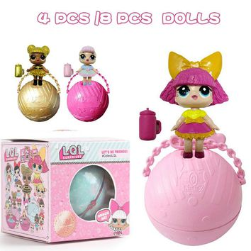 4/8pcs Random lol Dolls Magic Egg Ball Action Figure Toy Kids Unpacking Dolls Girls Dress Up Xmas Gift surprise dolls