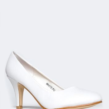 Emmy Round Toe Pumps