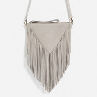 FRINGED LEATHER CLUTCH - View all-BAGS-WOMAN | ZARA United Kingdom