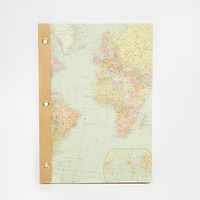 Temerity Jones World Map Notebook
