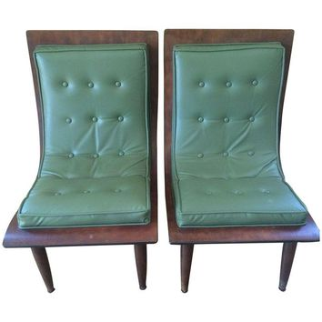 Pre-owned Mid-Century Carter Brothers  Scoop Chairs - A Pair