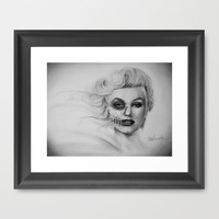 Marilyn Monroe Framed Art Print by K I T K I N G
