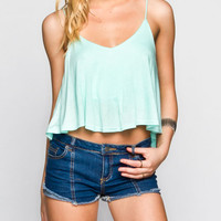 Mine Solid Womens Cami Mint  In Sizes