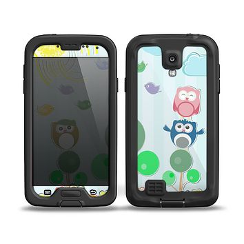 The Colorful Emotional Cartoon Owls in the Trees Skin for the Samsung Galaxy S4 frē LifeProof Case
