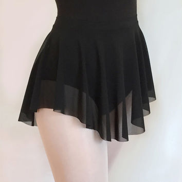 Ballet Sheer Black Micro Mesh Dance Skirt- SAB Style- Royall Dancewear