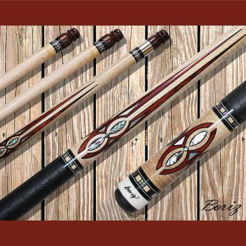 Boriz Billiards Pool Cue Stick Classic Style with Joint Protectors AB 779