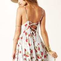 CIRCLES OF FLOWERS SLIP DRESS