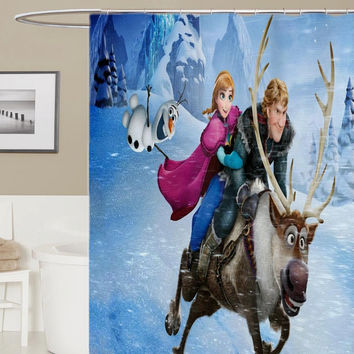 frozen custom shower curtain, curtains