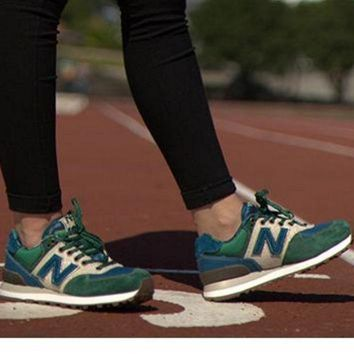 DCCKGQ8 new balance leisure shoes running shoes men s shoes for women s shoes couples n word green blue beige