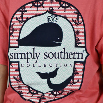 Whale Collection Simply Southern Tee