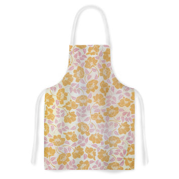 "Heidi Jennings ""Sun Kissed Petals"" Orange Pink Artistic Apron"