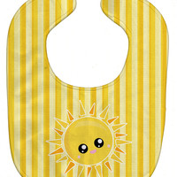 Sunshine Sun Face on Stripes Baby Bib BB7071BIB