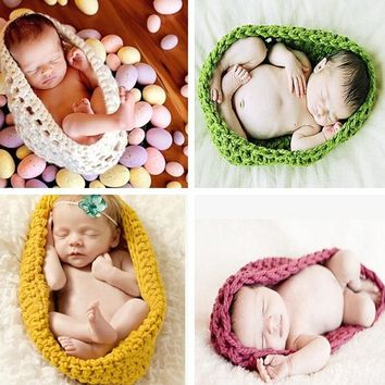 2017 New Arrive Newborn Crochet Baby Costume Photography Props Knitting Baby Hat Infant Photo Props New Born Boy Girl Cute