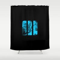 M Ink Shower Curtain by Matt Irving