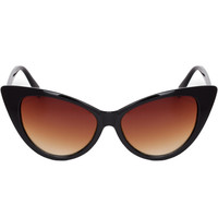 Priscilla Cat Eye Sunglasses - Brown