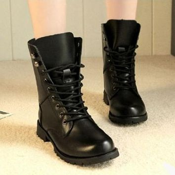 British Army Style Handsome Couple Motor Boots