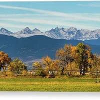 Rocky Mountain Autumn Farming Panorama Canvas Print