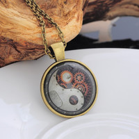 Yin Yang Steampunk Necklace