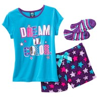 Jelli Fish Kids 4-pc. ''Dream In Color'' Pajama Set - Girls, Size: X SMALL (Blue)