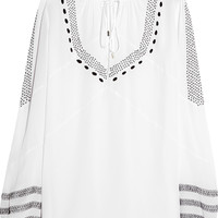 Altuzarra - Embroidered silk crepe de chine blouse