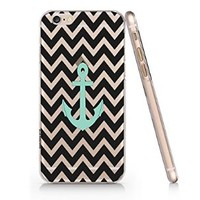 Black Stripped Anchor Slim Pattern Iphone 6 Case, Clear Iphone 6 Hard Cover Case (For Apple Iphone 6 4.7 Inch Screen)-Emerishop (B255) (AH819) (AH837)