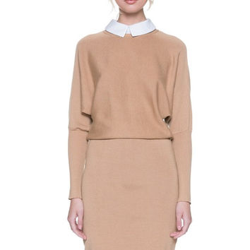 Camel Mock Dress