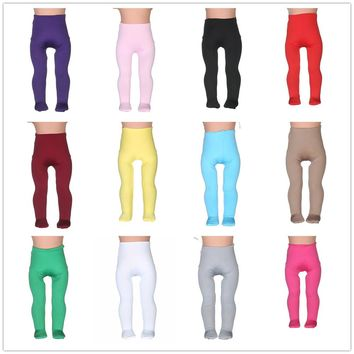 14differentColors Tight Pants Fit 18 Inches American Girl Doll Baby Doll Clothes Accessories Handmade Fashion Pants Clothes