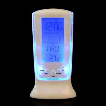 LED Digital Electronic Calendar with Blue Backlight (Alarm Clock/Thermometer)