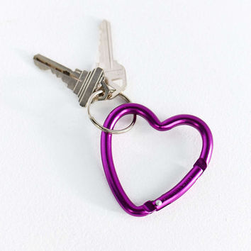 Bison Designs Heart Carabiner Clip Keychain - Urban Outfitters
