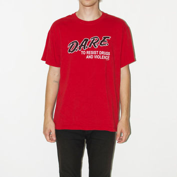 "Vintage Red ""D.A.R.E"" Tee"