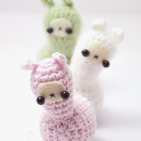 crochet llama amigurumi pattern - cute crochet plush pattern