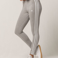 ADIDAS 3 Stripes Heather Gray Womens Leggings