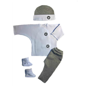 Baby Boys' Gray Soccer Ball Clothing Outfit