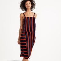 Madewell x No.6 Silk Patchwork Shift Dress in Multi-Stripe : shopmadewell day-to-night dresses | Madewell