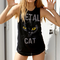 Metal Cat Muscle Tee