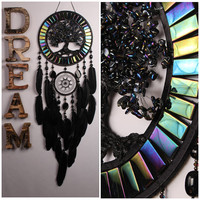 Dream Catcher Black quartz Tree life agate Dreamcatcher Dream сatcher agate dreamcatcher decor handmade unique gift birthday Present wedding